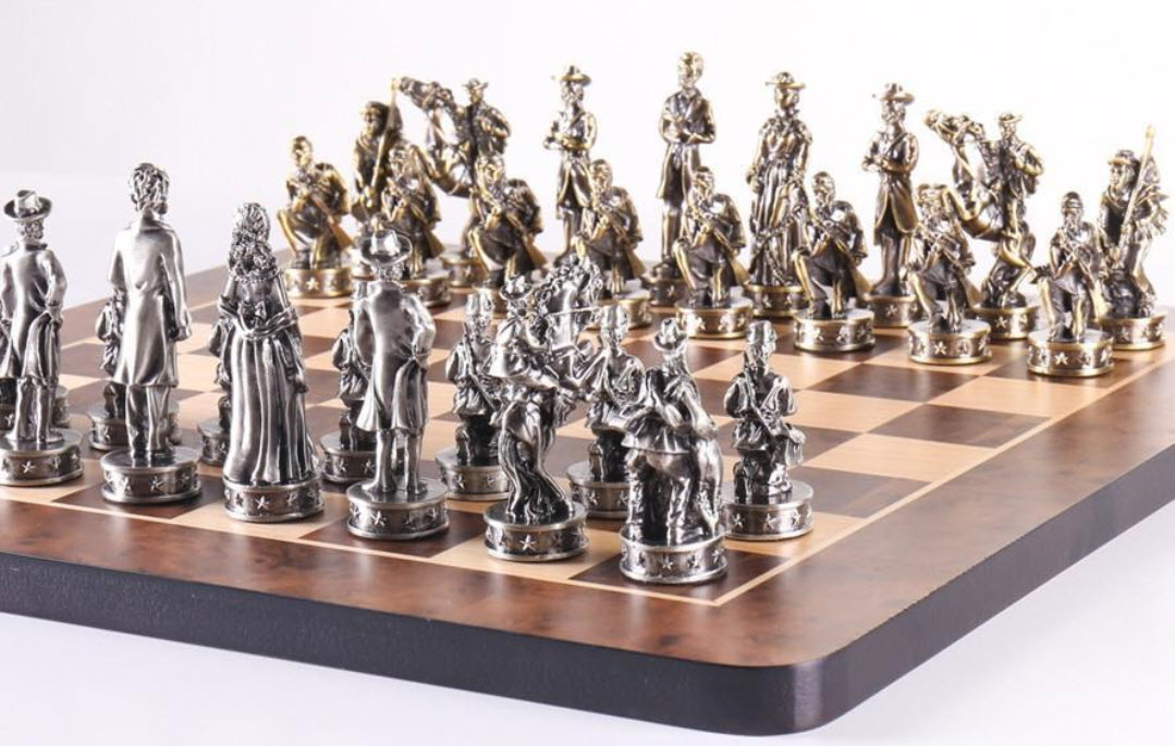 16-Inch Civil War-Themed Chess Set