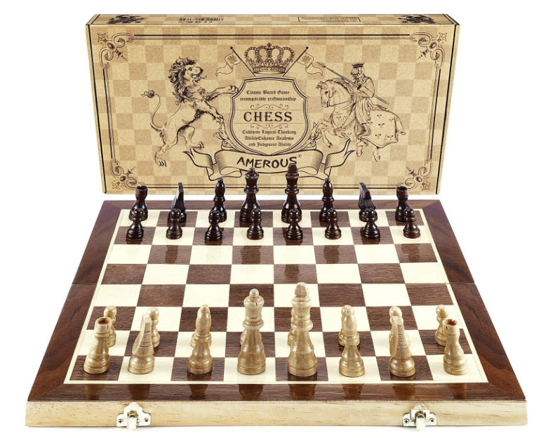 Amerous Magnetic Wooden Magnetic Chess Set