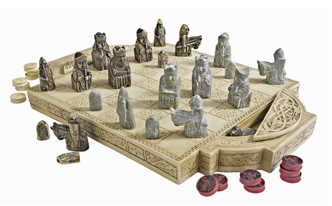 Design Toscano Isle of Lewis Chess Set with Board Box