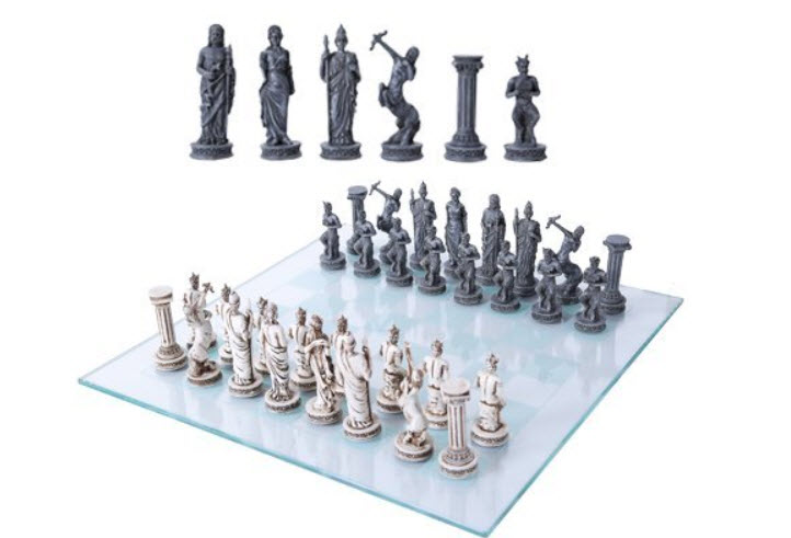 Ebros Greek Mythology Chess Set