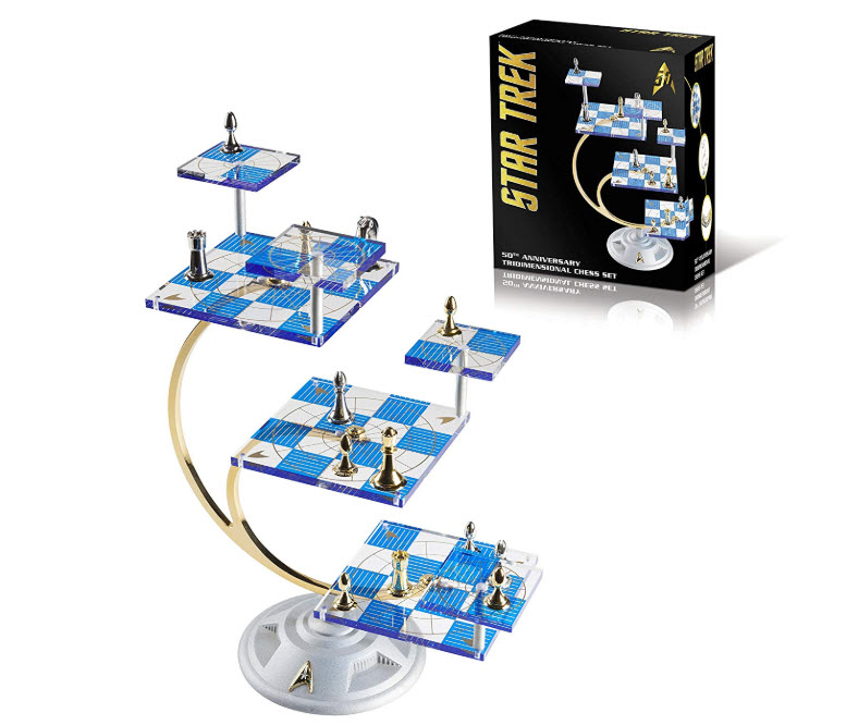 Franklin Mint Star Trek Commemorative Tridimensional Chess Set