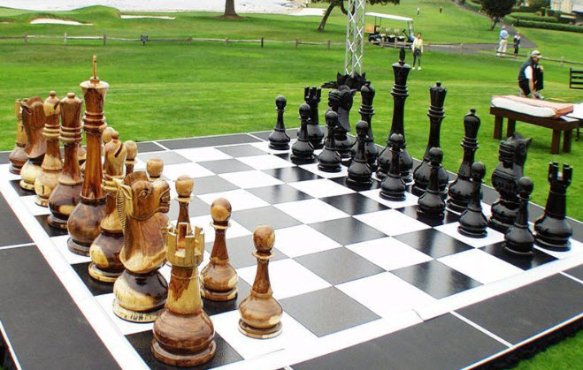 Giant Teak Chess Set by MegaChess