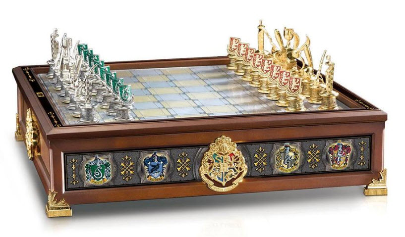 Harry Potter Hogwarts House Quidditch Chess Set