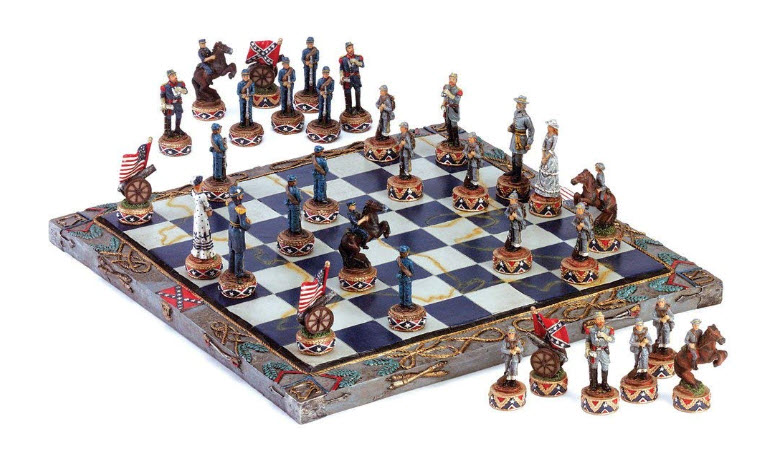 Koehler 347336 14.625-inch Multicolored Civil War Chess Set