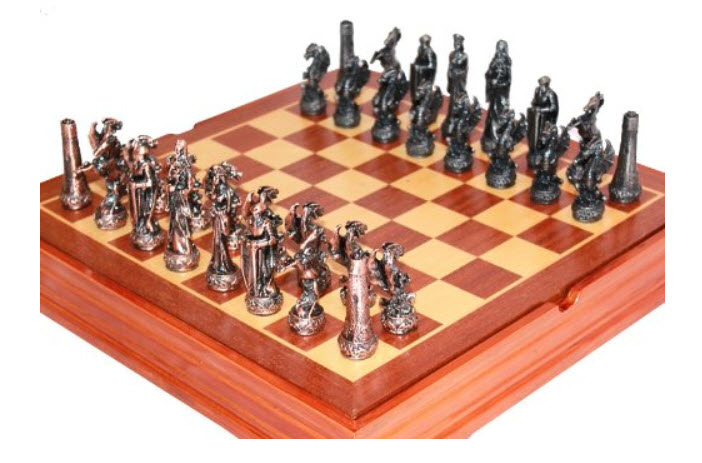 Middle Age Dragon Chess Set