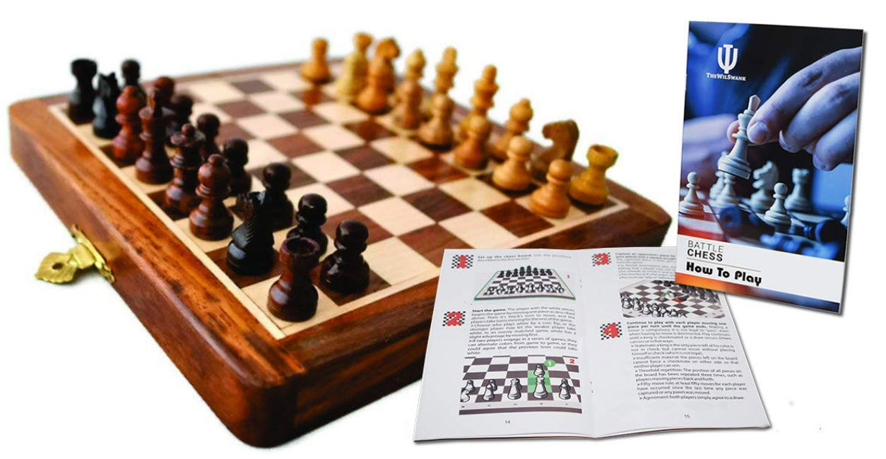 Wilswank Magnetic Foldable Chess set
