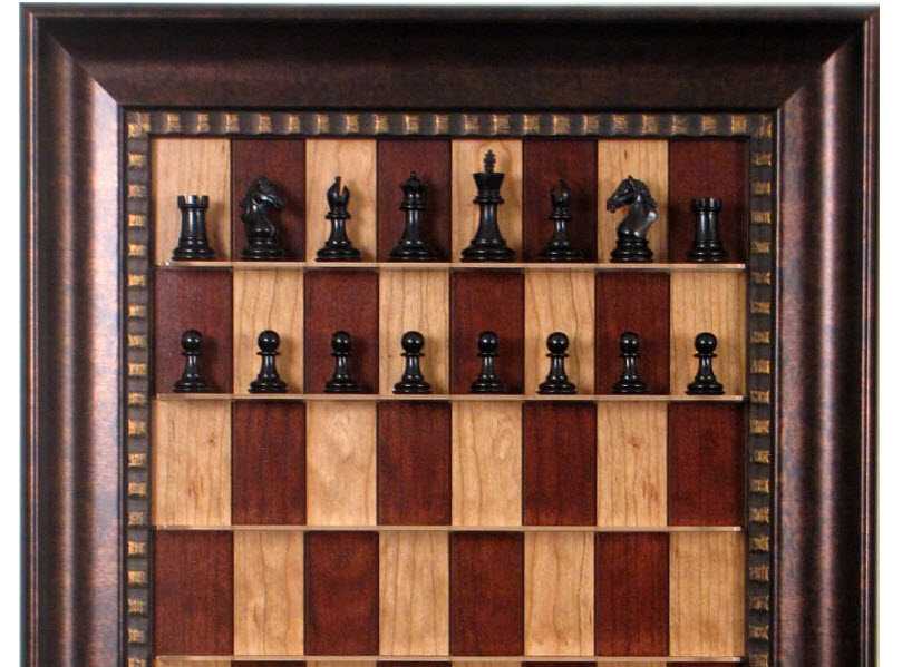 House of Staunton Straight Up Chess Board