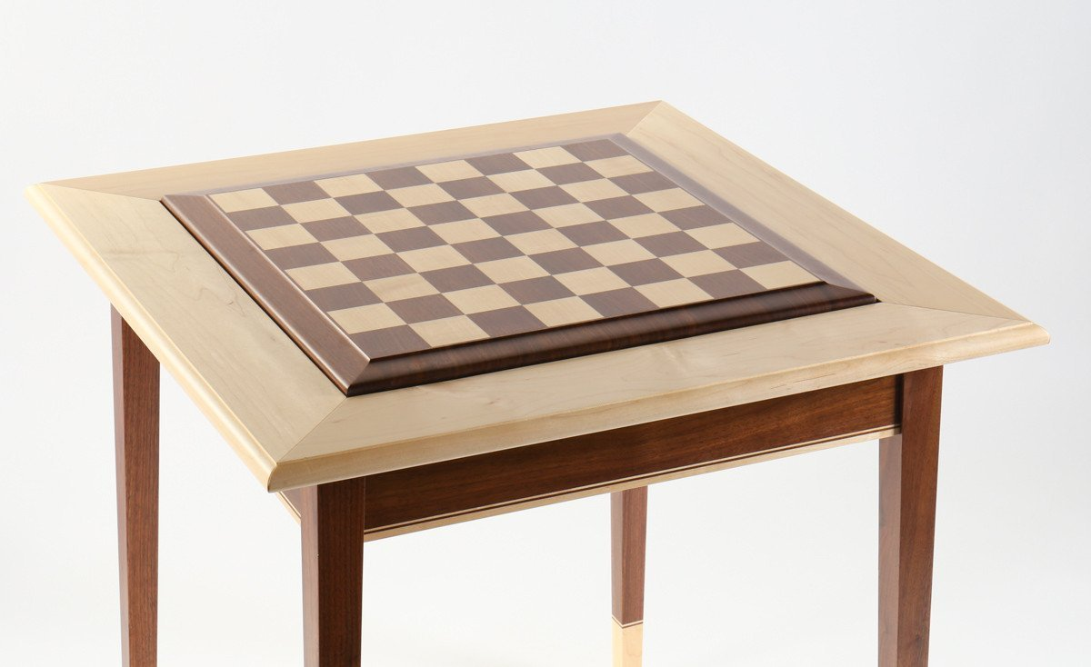 Maple Walnut Premium Hardwood Chess Table