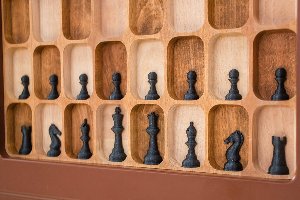 Wall-Mounted Chess Board by Chess House