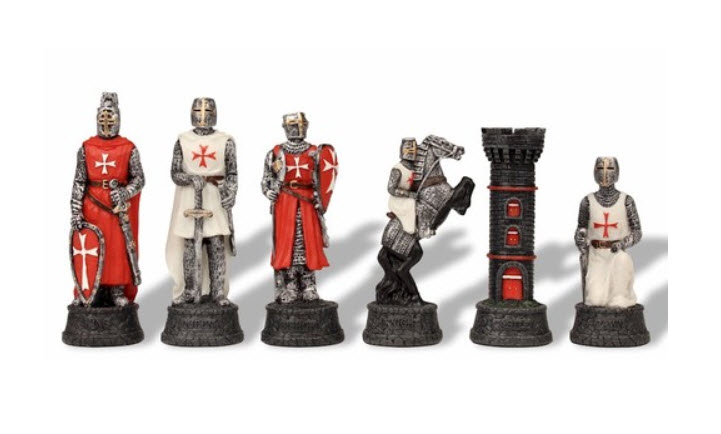 Crusade Knights Themed Chess Set