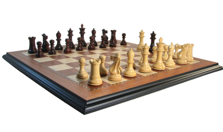 Luxe Legionnaires Crimson Rosewood Chess Set
