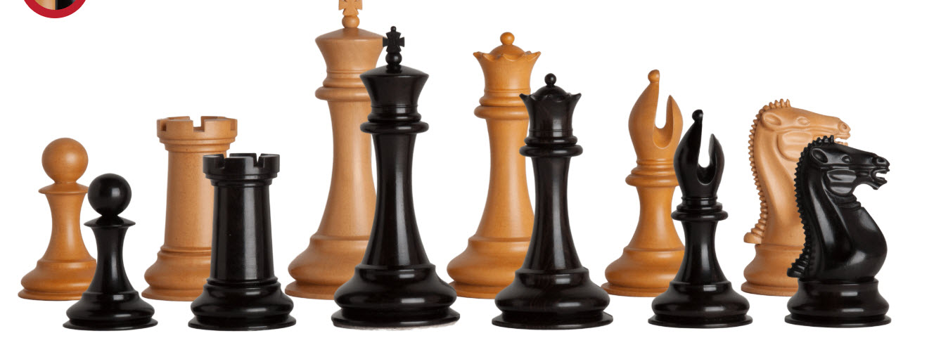 The Golden Collector Series Luxury Wood Chess Set