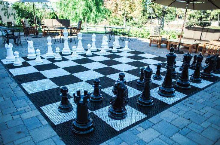 36 Inch Fiberglass Giant Chess Set