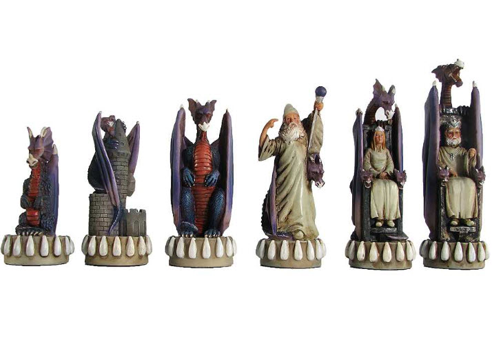 Dragon Kingdom Polystone Chess Set