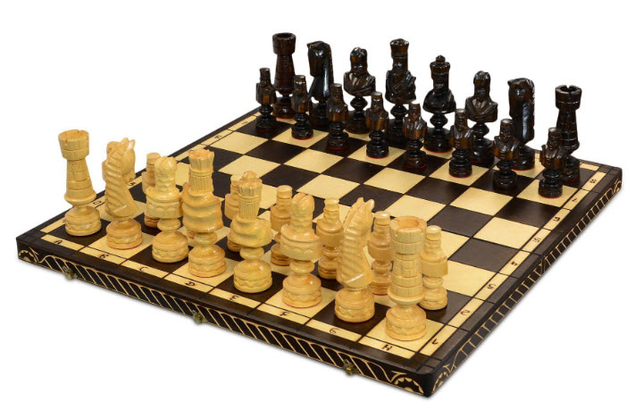 MegaChess Napoleonic 8 Inch Birch Giant Chess Set