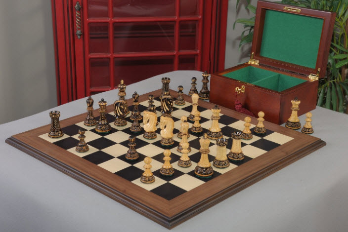 The Burnt Zagreb '59 Series Chess Set