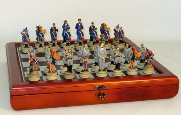Civl War Chess Set