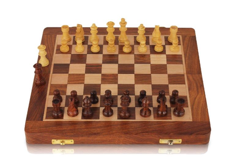 The Wooden Travel Magnetic Chess Set