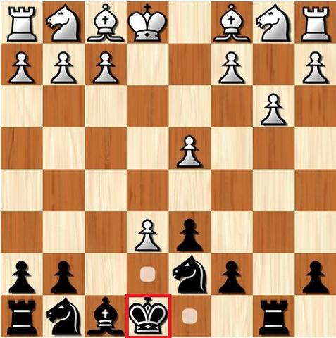 How the king moves in chess